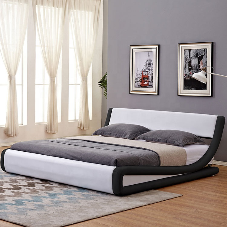 very hot sale in europe and south afraice curve shape bed contemporary design korean furniture beds