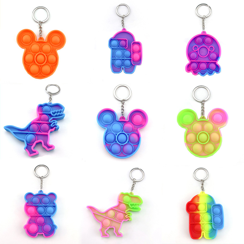 3D Cute Cartoon Rainbow Fidget Phone Reliver Stress Soft Case Sensory Squeeze Toy Pop it Phone Case For iPhone 12 11 Pro