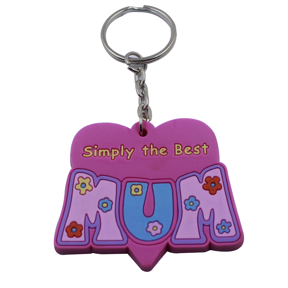 Direct sales of custom multi-color leather key chains with laser logo