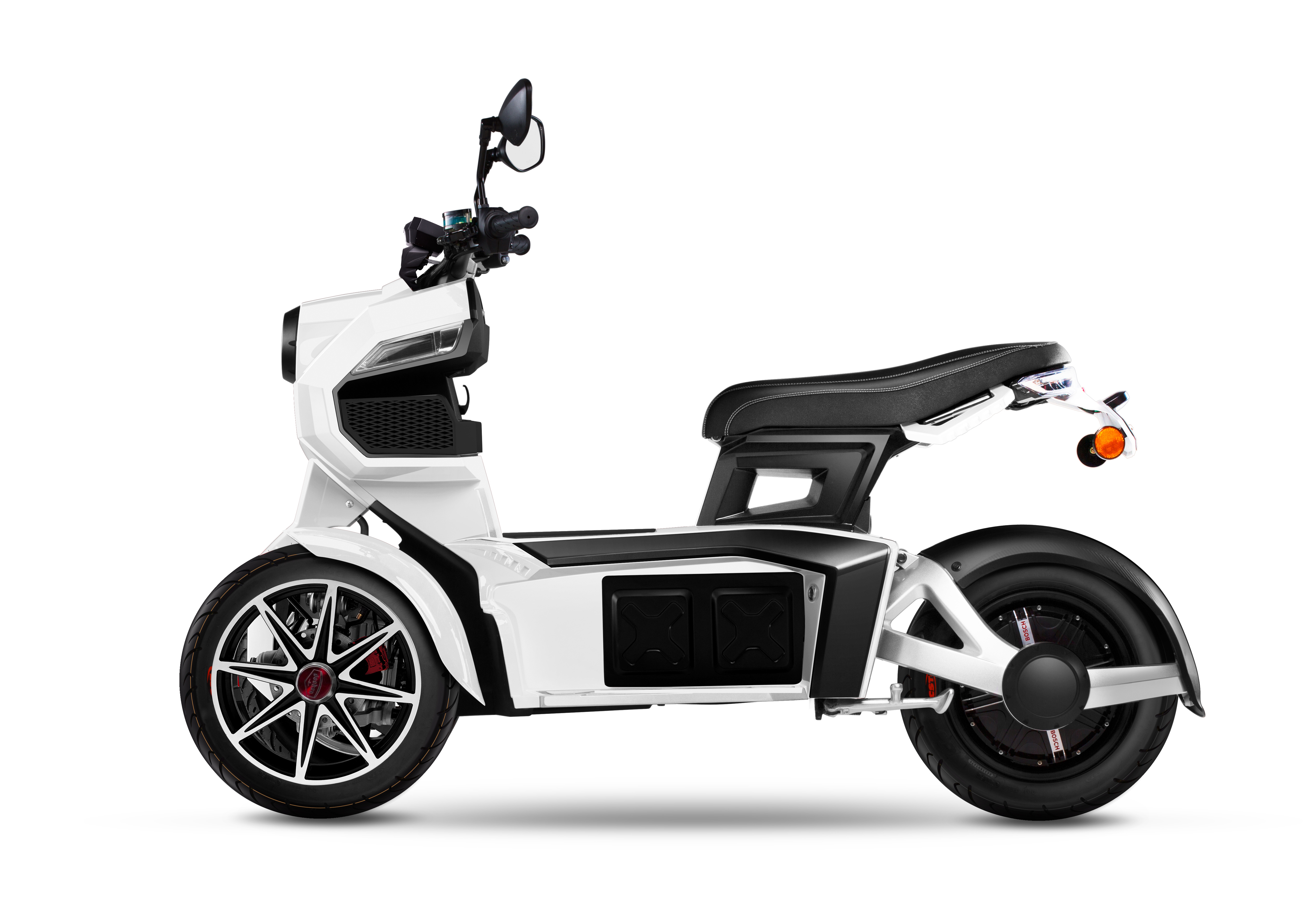 ITanks [Knight edition] Dual front wheel electric motorcycle trike lithium power battery bike 60V