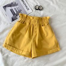 Женские хлопковые шорты TIGENA, эластичные шорты с высокой талией в Корейском стиле на лето 2020(Китай)