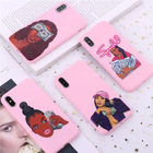 for iphone 11 prpmax case,for iphone 11 case cartoon 2020 MAKE MONEY Not Friends Kash Black head Girl tpu case