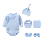 Baby Months Newborn Baby Boys Rompers Cothes Set 0-3 Months Outfit Giftset