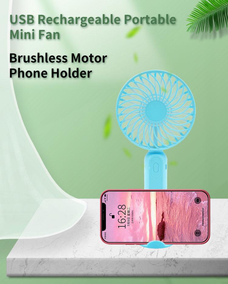 SUNJET Phone Holder mini Fan Rechargeable USB Portable Handheld Electric Fan Foldable Portable Fan