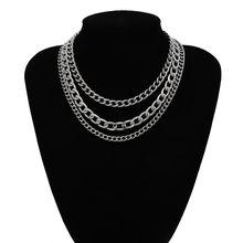 Массивное ожерелье-чокер в стиле хип-хоп, массивное ожерелье в стиле стимпанк из алюминия и золота, массивное ожерелье на цепочке, ювелирные...(Китай)