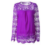 Рубашки, одежда для женщин, о-образный вырез, уличная мода, блузки с длинным рукавом, 2020, топы, кружева, шифон, однотонные, дышащие, летние, бел...(China)