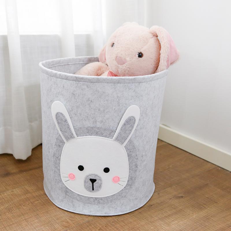 Colorful Felt Laundry Hampers Baby Toy Storage Basket