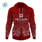 PURE OEM Cheap Price Sublimated Printed Polyester Fleece Pullover Warm Wholesale Custom Sports Workout Hoodie Sweatshirts