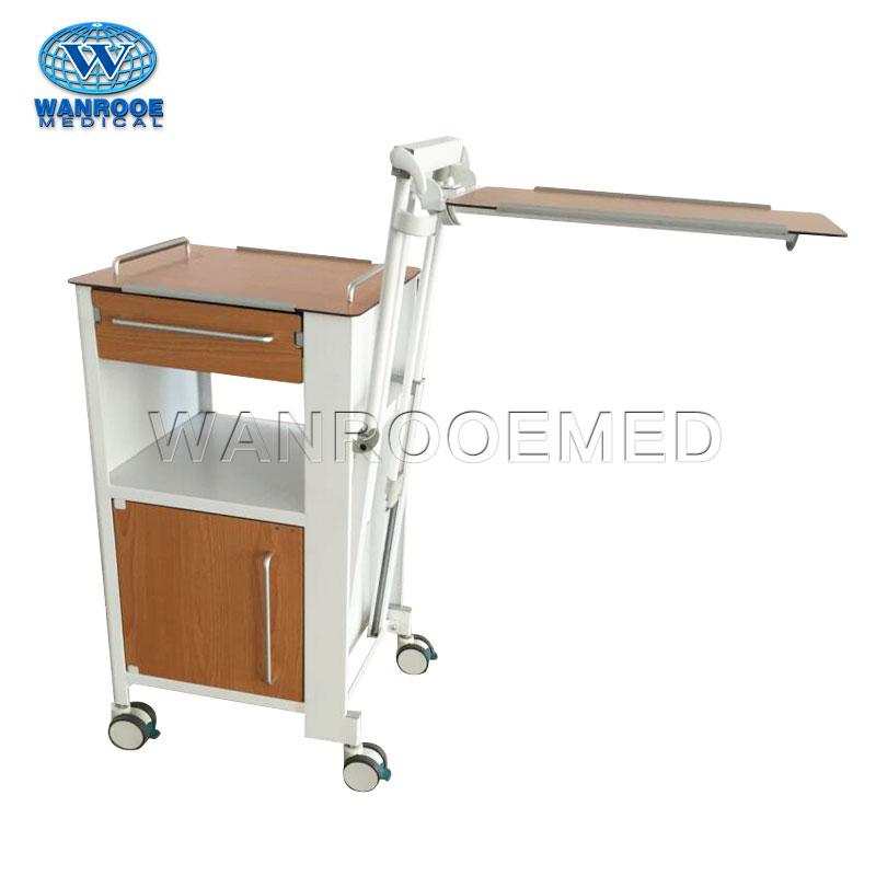 BC010F больничный мобильный пациентный деревянный прикроватный шкаф с столом