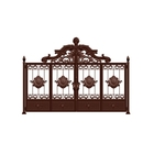 Gate Aluminum Art Villa Outside Gate Rural Courtyard Aluminum Alloy Electric Gate Home Luxury Custom Painted Gate