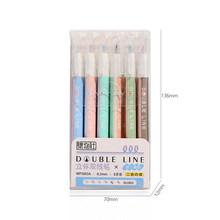 JIANWU новые morandi цветные двойные линии художественные маркеры авторучка маркер авторучка для рисования(Китай)