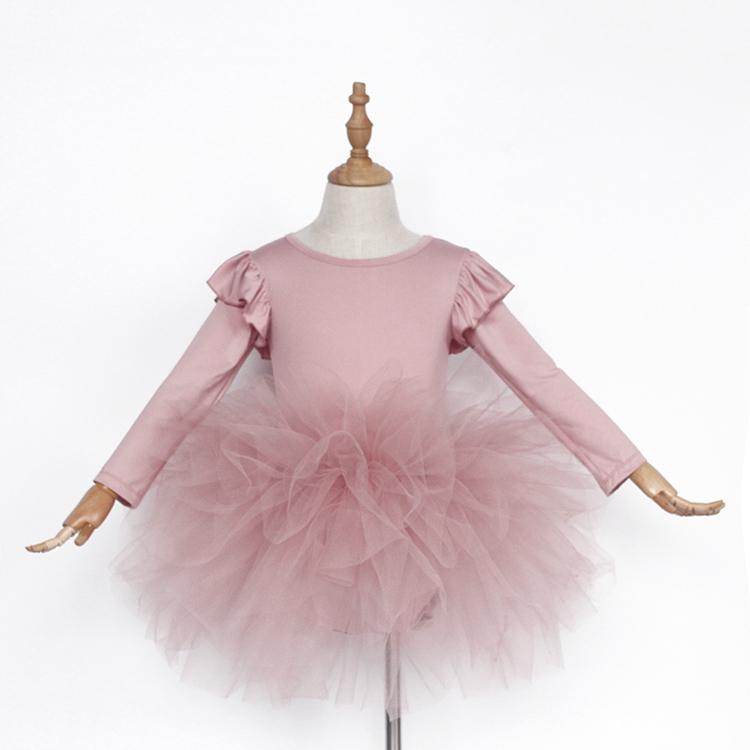 Индивидуальный дизайн, зимняя пыльная розовая детская пачка, Одежда для танцев, профессиональная детская балетная пачка