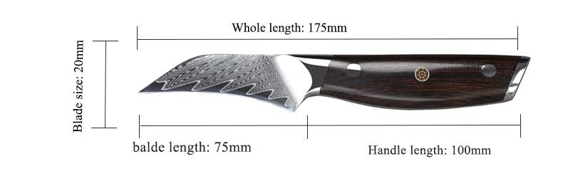 Professional High Carbon Steel VG10 Japanese Knife Set 7 PCS Damskus Kitchen Chef knife Set With Scissor and Block