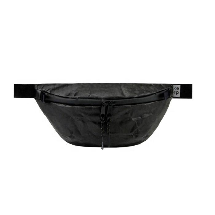 Модный черный бумажный поясной кошелек для мужчин и женщин, забавная сумка унисекс для фестиваля, рюкзак keepbags 2L, водоотталкивающий, Tyvek