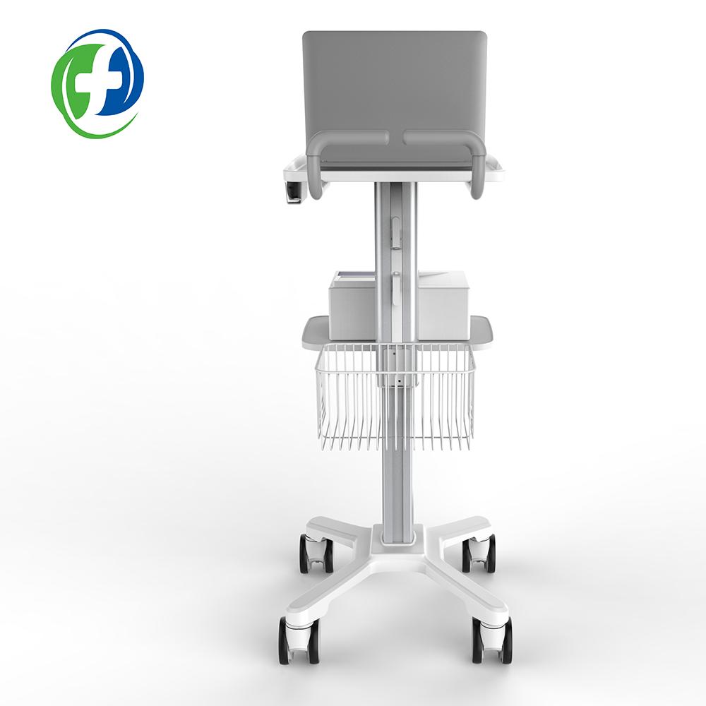 2019 medical hospital furniture trolley medicine cart ecg trolley abs cart laptop