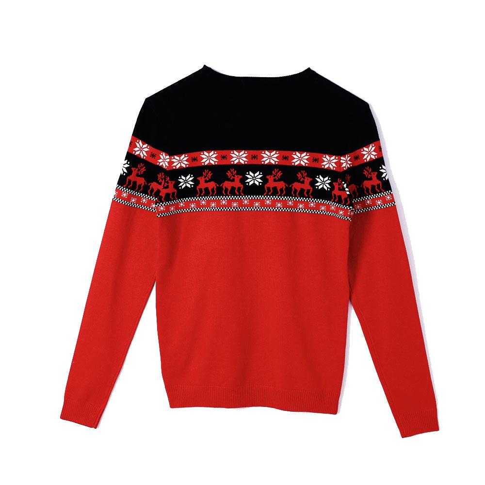 Custom Unisex Crewneck Jacquard Ugly Christmas Sweater Knitwear