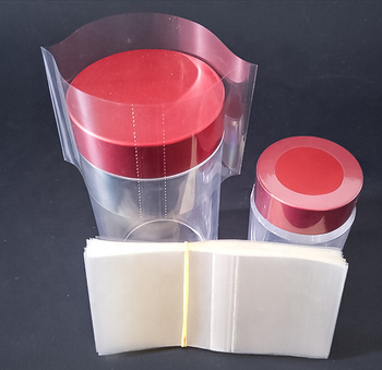 Transparent pvc shrink wrapped bands for packaging