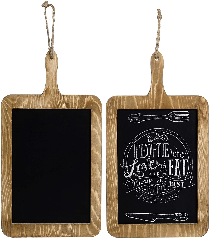 Rustic Wood Hanging Chalkboard Paddle Message Board - Yola WhiteBoard | szyola.net