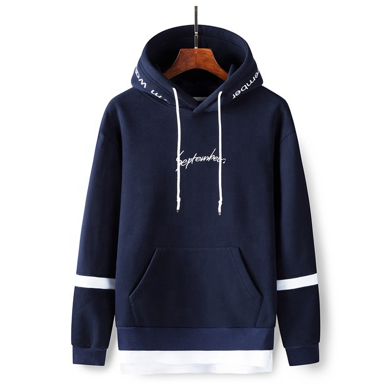 Производители одежды на заказ, хаки, темно-синий пуловер оверсайз, толстовки с вышивкой сентябрь