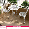 7-2 chair 1 rose pattern round table D60cm white