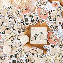 2020 новая голова кота из мультфильма стикер для канцелярских товаров этикетка ручной работы Тонкий блестящий клей скрапбукинга наклейка на ...(Китай)