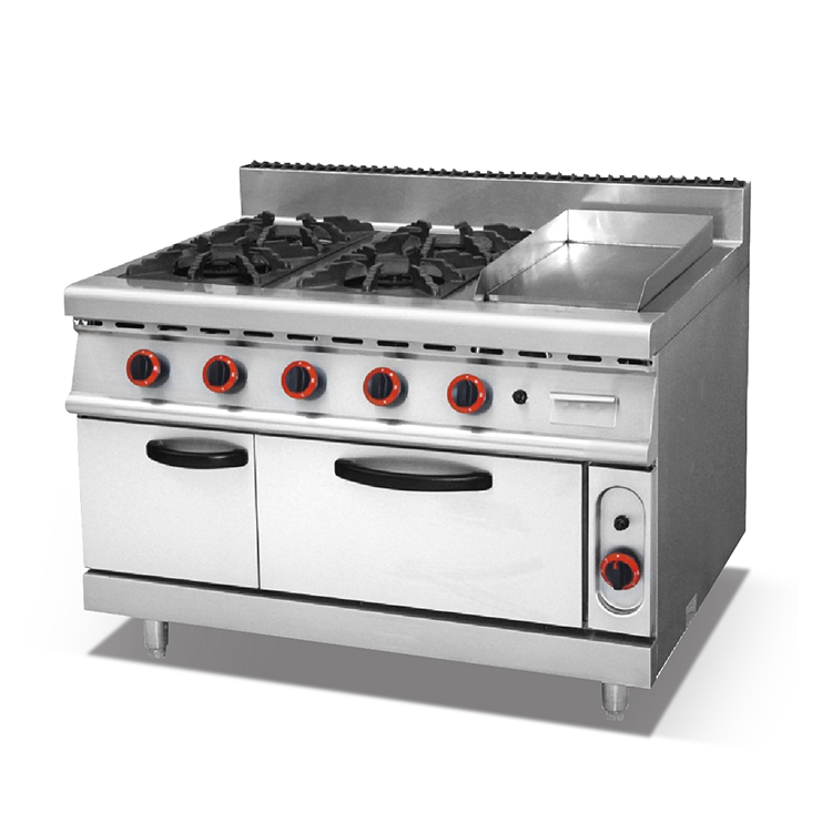 Commercial Outdoor Stainless Steel 4 burner gas oven with griddle+4 burner with griddle gas oven