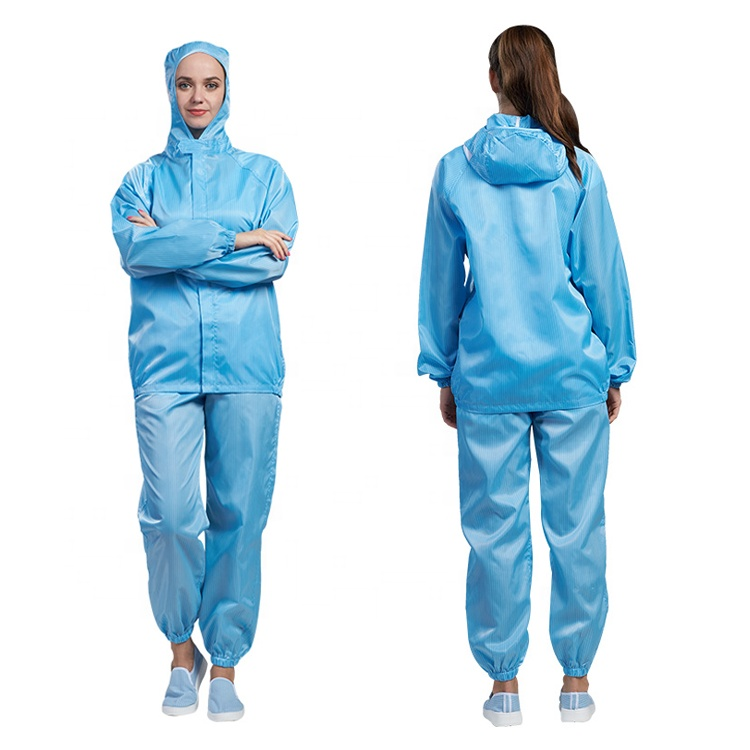 Cleanroom esd anti-static work suit - KingCare | KingCare.net