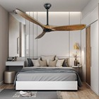 Decorative Fan 1stshine Innovative Products 2020 Living Room Decorative Low Voltage Nordic Wooden Ceiling Fan