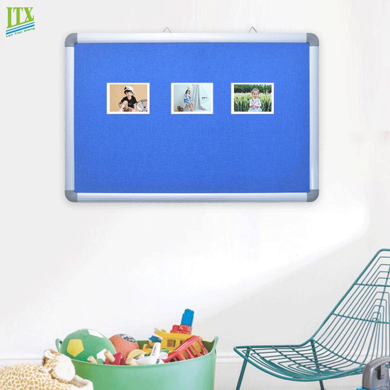 School supplies aluminium frame fabric bulletin board for office
