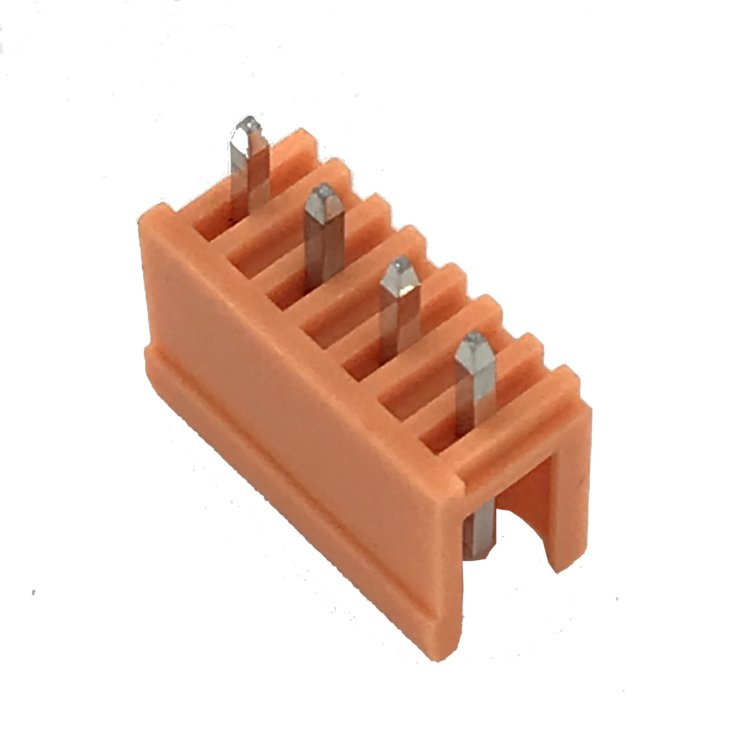 XINKE 3.96MM pitch 6pin Green orange male Plug-in PCB Pin electric wire connector HT396V-3.96MM 180 degree angle