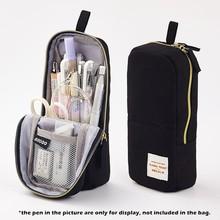 Angoo молодежная сумка-карандаш, чехол для карандашей, Мятная полоска, простые розовые точки, холщовые ручки, держатель для телефона, чехол для...(Китай)