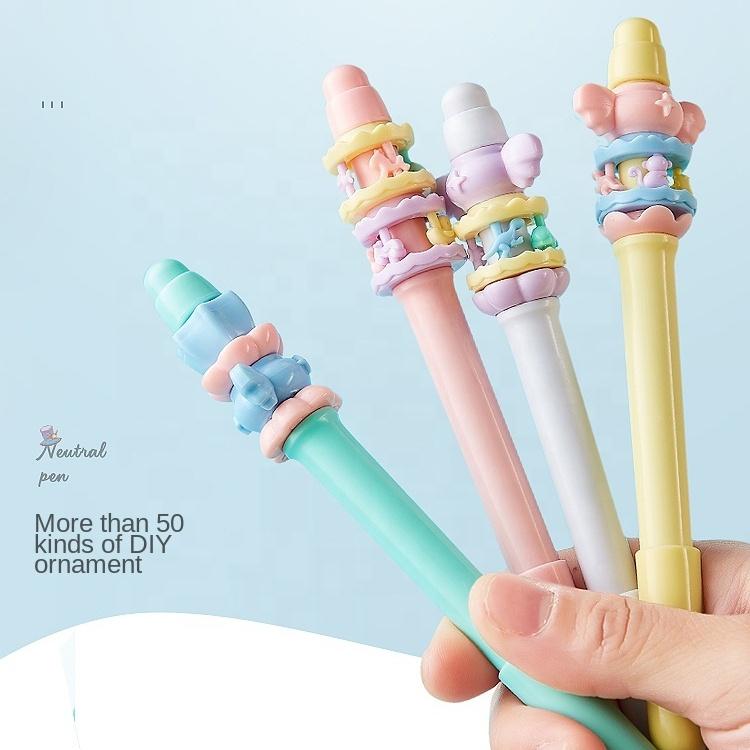 Забавная Вращающаяся ручка Kawaii вращающаяся игровая ручка для детей студентов с пользовательским логотипом креативная офисная и школьная Ручка с гелевыми чернилами
