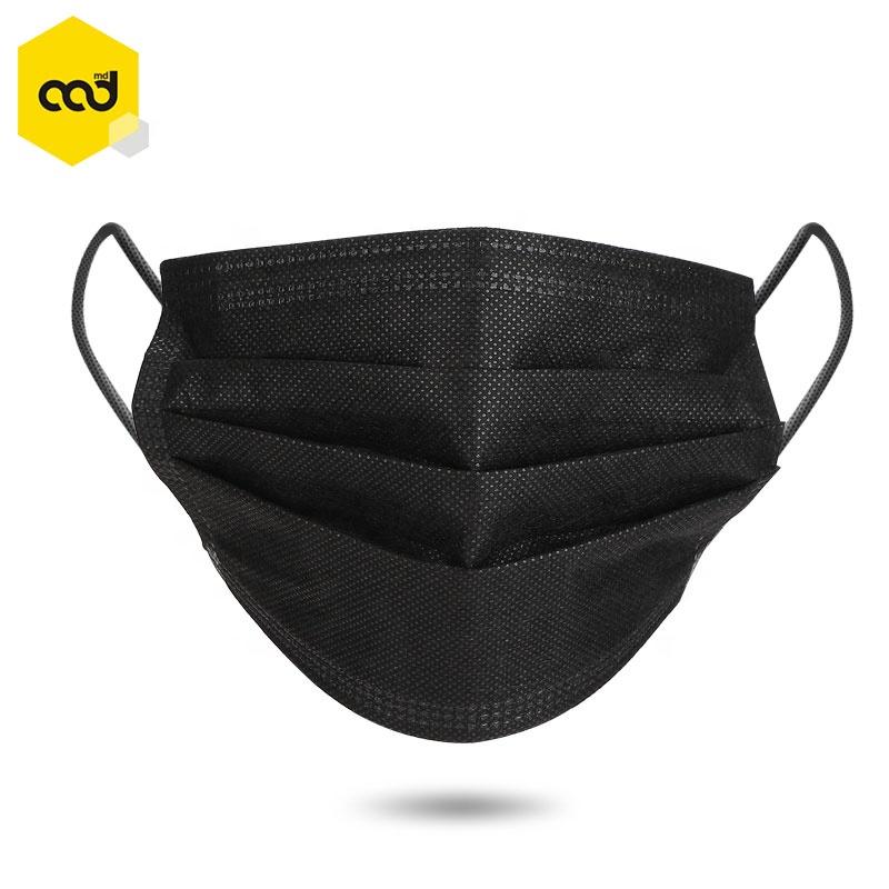 Factory Disposable Black Fashion Mask Earloop Non Woven Fabric 3 Layers Face Mask China - KingCare | KingCare.net