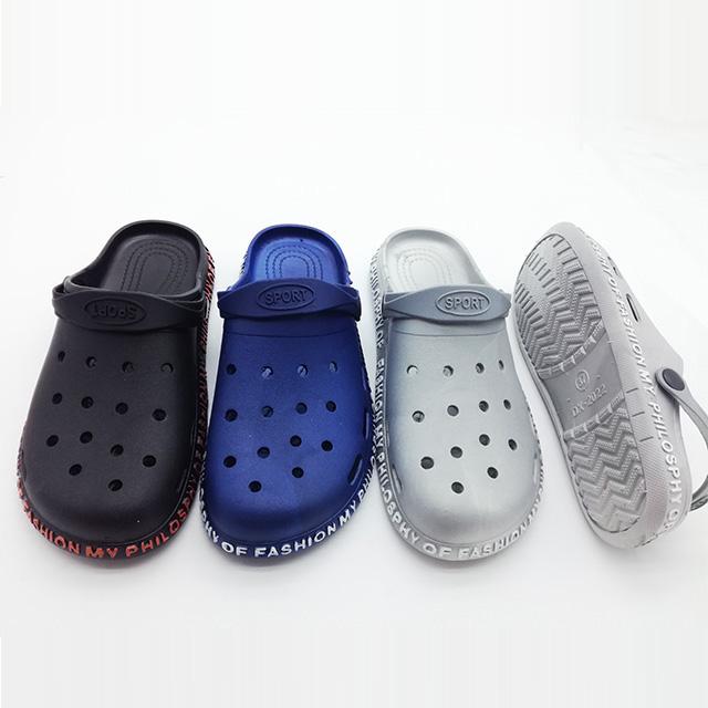 2020 popular new design flat pcu men slippers slip on garden clogs shoes sports sandals