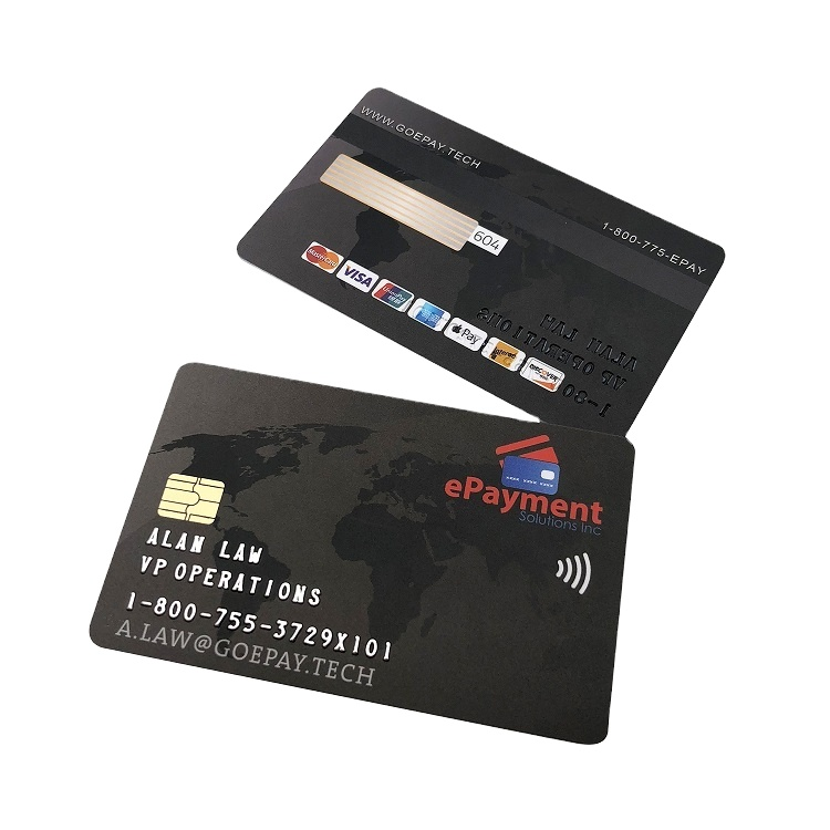 Best sale Magnetic Stripe Blank PVC Visa Credit smart contact cards
