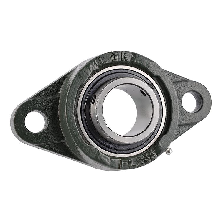 LDK 2 bolt flange Cast Iron block bearing fl203