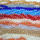 Beads Ab 8mm Faceted Crystal Glass Rondelle Beads With AB Color For Jewelry Making