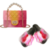 Colorful H Purse and Sandals Set