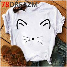 Летняя футболка с забавным котом, женская футболка с котятами каваи размера плюс, милые женские футболки с графикой, унисекс футболка больш...(China)