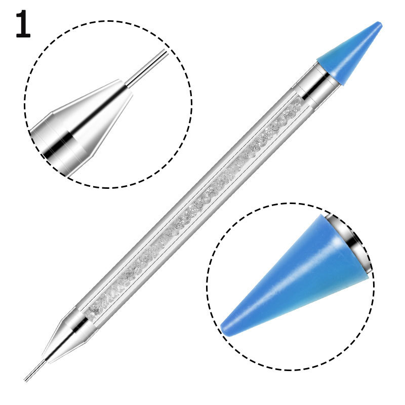 Wholesale Dual ended Nail Gems Crystals Studs Picker Manicure Rhinestone Dotting Pen Nail Art Decoration Wax Pencil for Nails
