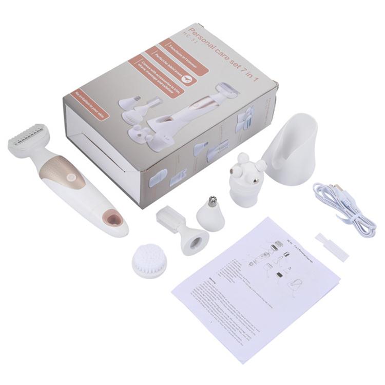 Эпилятор 5 в 1, электрическая бритва, Женский депилятор, перезаряжаемая бритва, триммер для удаления волос, эпилятор для лица