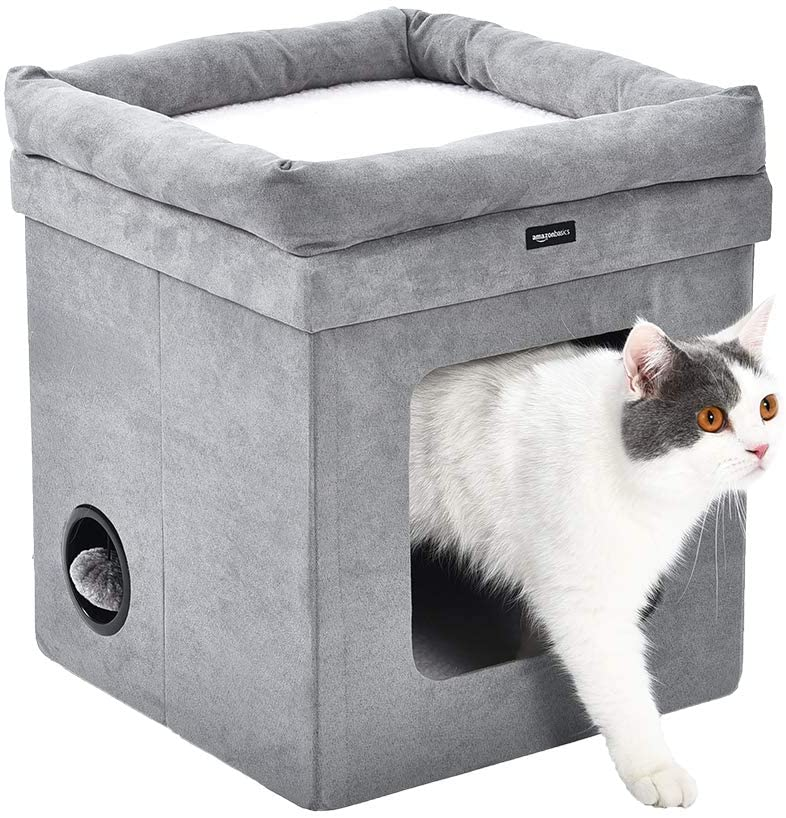 New Design Durable Soft Indoor Cat Condo Collapsible Cat Box House With Bed Buy Ceramic Miniature Houses Collapsible Cat Box House With Bed Pet Bed Product On Alibaba Com
