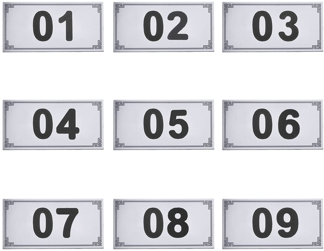 Custom Design House Numbers Metal Aluminum Door House Name Plate Hotel Room Door Number Plates Door Signs Wholesale