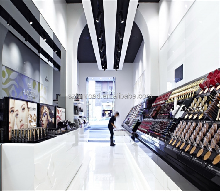 Brand new luxury perfume display cabinet Shopping mall perfume shop glass shelf