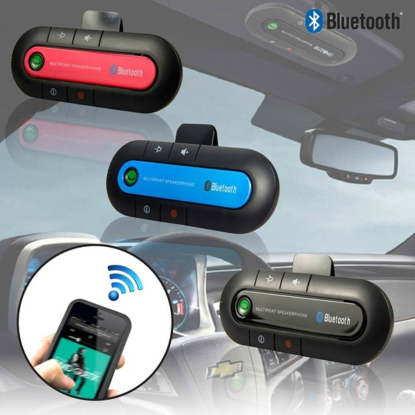 2021 amazon hot dropshipping Wireless Handsfree car transmitter Auto mp3 player Kit BT Speakers with Car Charger Sun Visor Clip