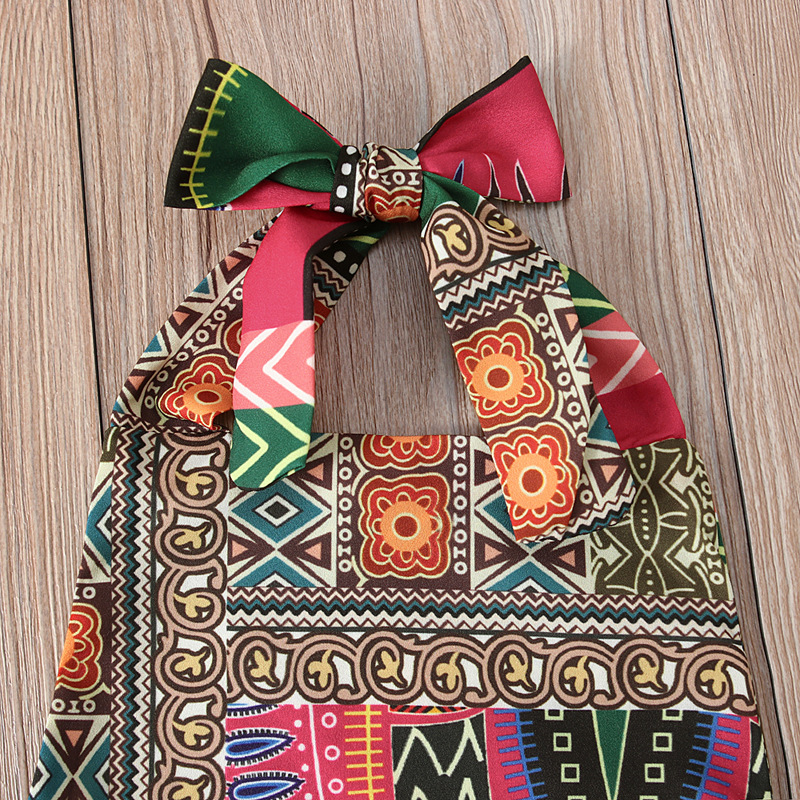 Распродажа, комбинезон с принтом и головной убор для детей от 0,5 до 2 лет, одежда для девочек в африканском стиле
