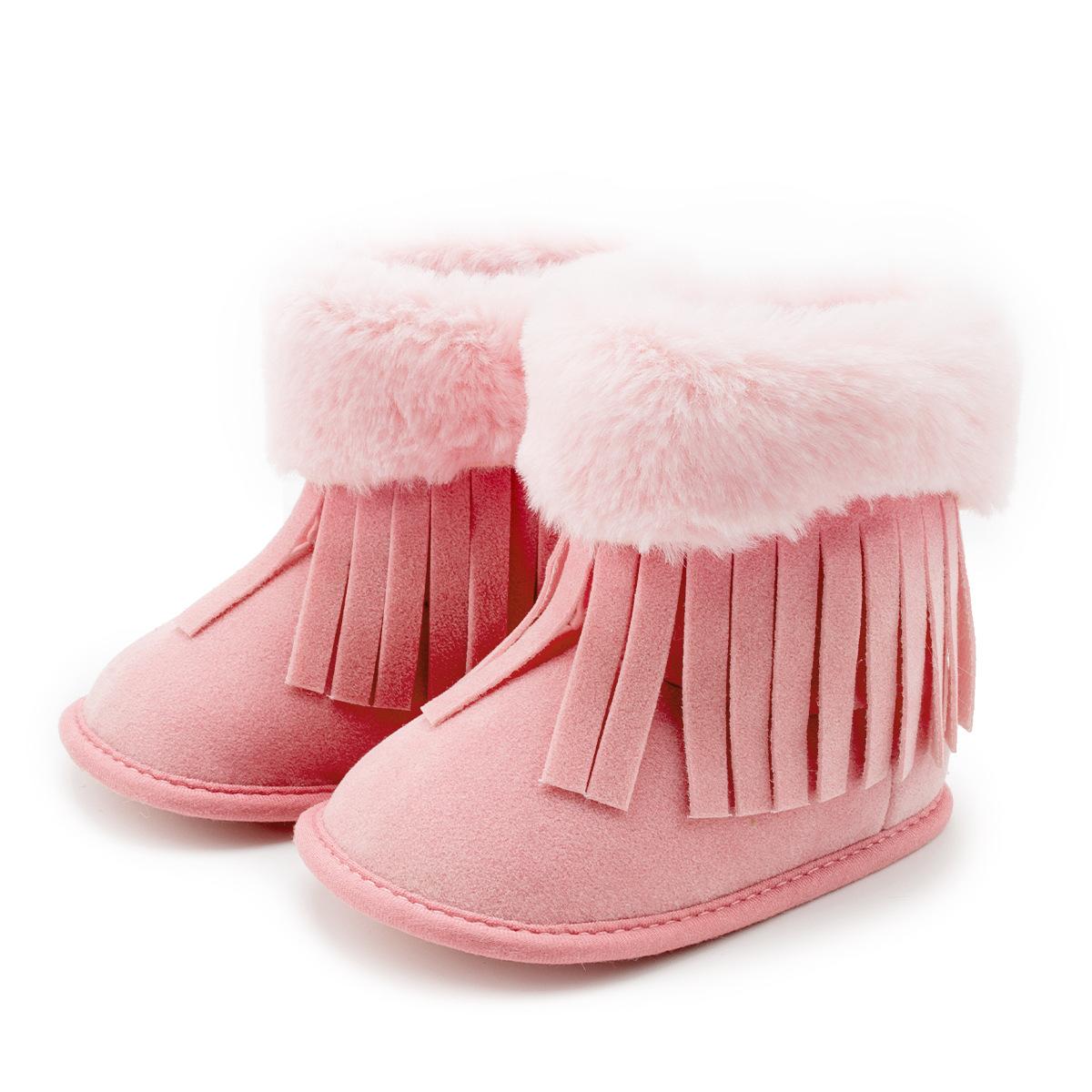 wholesale soft bottom newborn toddler shoes winter boy girl baby tassel boots