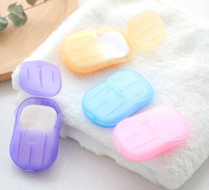 Hot Sale Cheap Promotional Soap Paper Plastic Case Paper Soap