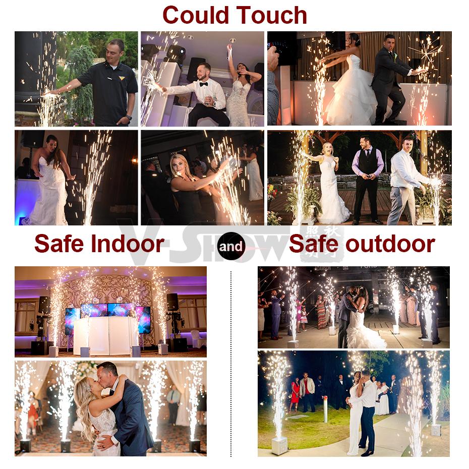 Холодный Искрящийся фонтан для свадьбы 750 Вт Холодный фейерверк для вечеринки дискотеки шоу, Доставка из Европы, 2 шт. в коробке