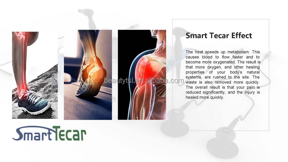 Resistive model capcitive tecar rf muscle pain relief smart tecar therapy neck massager back knee pain relief tecar 5.0 device